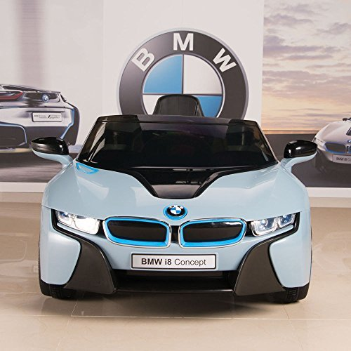 BIG TOYS DIRECT BMW i8 12V Kids Ride On Battery Powered Wheels Car RC Remote Blue