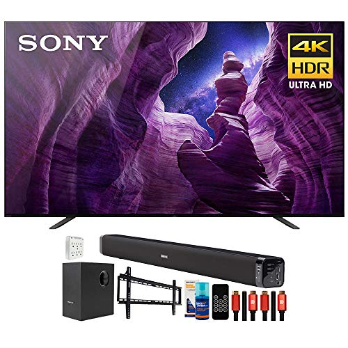 """Sony XBR55A8H 55"""" A8H 4K UHD OLED Smart TV (2020) Bundle with Deco Gear Home Theater Bundle"""