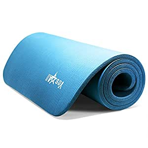 Amazon.com: Blue NPR Yoga Mat 68x24x0.4