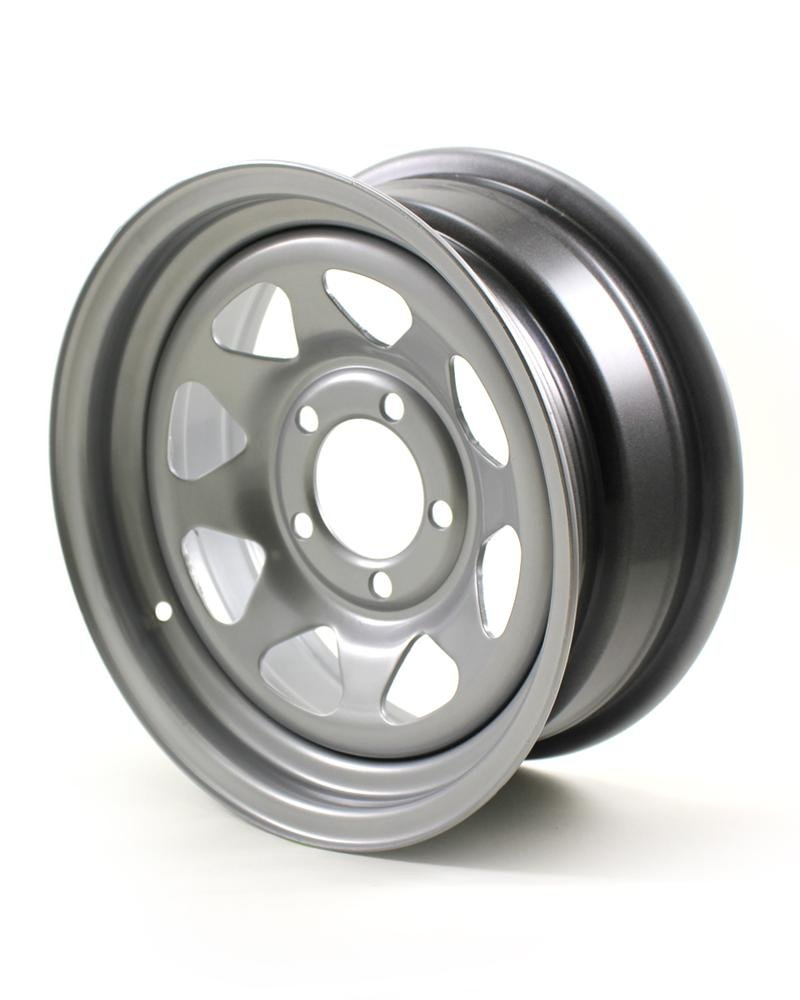 RecStuff.com JG 14X6 5/4.5 Silver Spoke Trailer Wheel