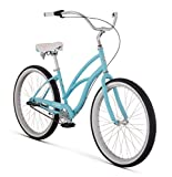 "Raleigh Bikes Womens Special 3 Step Thru Cruiser Bike, 24""/One Size, Sky Blue"