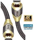 HDMI-kabel 2.0/1.4a (Neuster Standard) Ultra HD 4K @60Hz 3D PS4 1080p Full HD 2160p ARC High Speed met Ethernet - 1.5M IBRA LUXURY GOLD