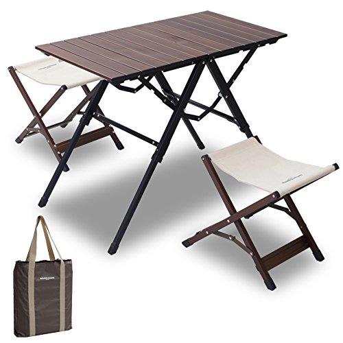 山善(YAMAZEN) キャンパーズコレクション ワンアクションテーブルセット CTS-8040(WP) B00U3C6FJA