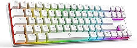 WUXXXTeclado mecánico para juegos con botón azul, teclado ...