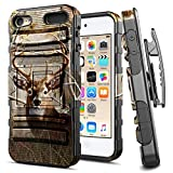 iPod 5 / iPod 6 Case, iPod Touch 5th / 6th Generation Case, E-Began Belt Clip Holster Kickstand Protective Hybrid Cover Heavy Duty Armor Defender Shockproof Rugged Premium Case -Deer