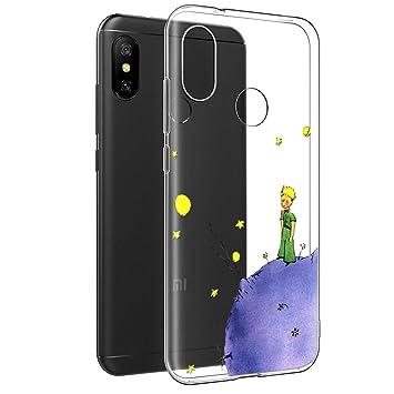 YOEDGE Funda Xiaomi Mi A2 Lite Ultra Slim Cárcasa Silicona Transparente con Dibujos Animados Diseño Patrón [El Principito] Resistente Bumper Case ...