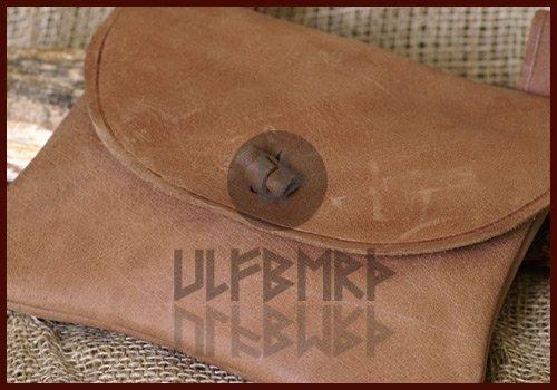 Cintura Borsa in pelle di ULFBERTH, rettangolare–medievale–vichingo–LARP