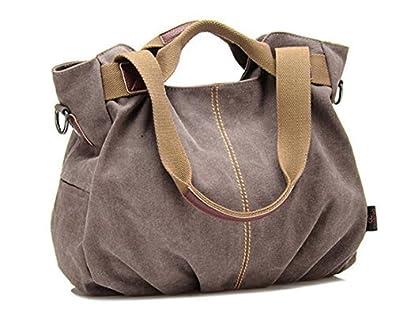 Amazon.com: dhiuow señoras de las mujeres lona bolso bolso ...