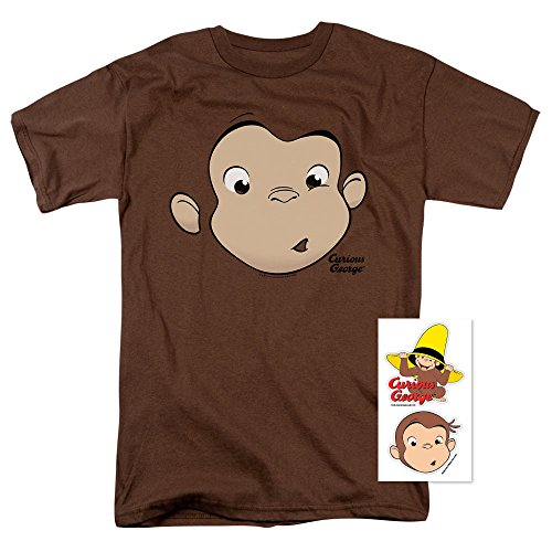 - Popfunk Curious George Face Adult T Shirt (XX-Large)
