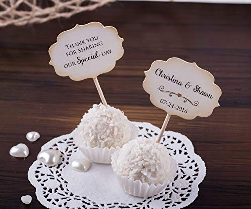 - Wedding Cupcake Toppers. Chocolate Cupcake Toppers. Custom Wedding Decorations. Set of 24