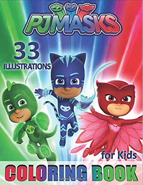 - PJ MASKS Coloring Book For Kids: Toddlers Colouring Book For Girls And Boys  (33 Illustrations): Books, Junior: 9781077019188: Amazon.com: Books