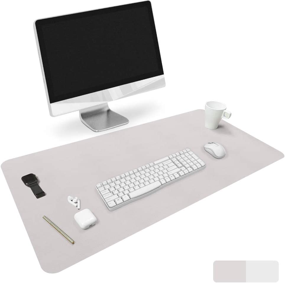 No Smell Desk Cover Protector Writing Pad MGDC Silicone Desk Pad Blotter Desk Mat Multifunctional Office Desk Pad Clear Non-Slip Large Mouse Pad Desk Accessories 31.5x15.7