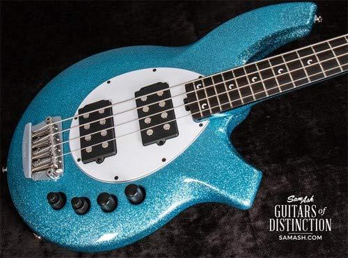 Ernie Ball Music Man Bongo 4 HH Electric Bass Guitar Aqua Sparkle - Guitar Bongo Bass