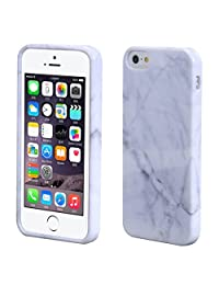 Susenstone Marble Texture Print Cover Case Skin For iPhone 5s White
