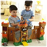 Fisher-Price Imaginext Eagle Talon Castle Playset (Age: 3 years and up)The castle unfolds to over three feet, so you can set it up to play in different ways. The castle also includes 32 play pieces, including figures, ladders, catapults and more, for endless fun
