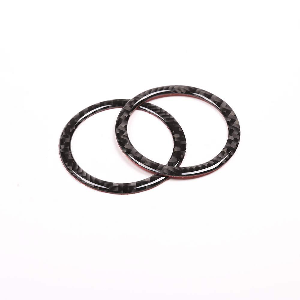 2013 para MB ML GLE GLK Class Stickers de DIYUCAR 2 anillos de ventilaci/ón de fibra de carbono para salpicadero Benz Clase C W204 2007