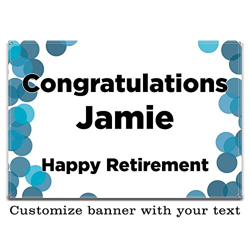 Buttonsmith Dots Custom Vinyl Banner 2'x3' - Indoor/Outdoor - Personalize with Your Text - Designed, Printed, and Assembled in -