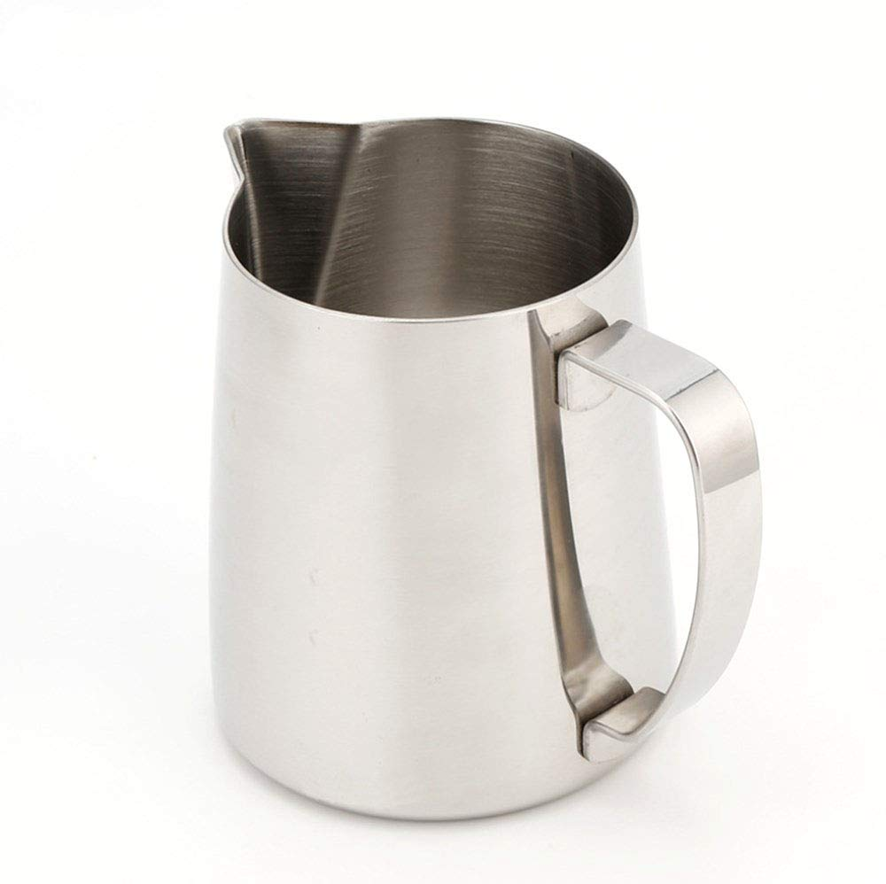 Ss Stainless Steel Milk Frothing Pitcher Cappuccino Pitcher Pouring Jug Espresso Cup Creamer Cup for Latte Art, 12 Ounce (650 Ml)