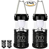 LED Camping Lantern - Gold Armour Camping Lantern - LED Lantern Camping Gear Equipment Camping Lights Flashlights for Outdoor, Hiking, Emergencies, Hurricanes, Outages (Black and Black)