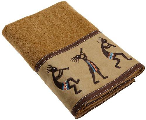 Avanti Linens Kokopelli Bath Towel, Nutmeg - 100-Percent cotton exclusive of the embellishments Made in North America Decorative bath accessories - bathroom-linens, bathroom, bath-towels - 51SVNYHNqpL -
