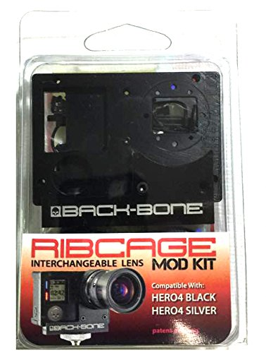 Rib Cage Bones - Back-Bone Ribcage HERO4 Mod Kit (Black)