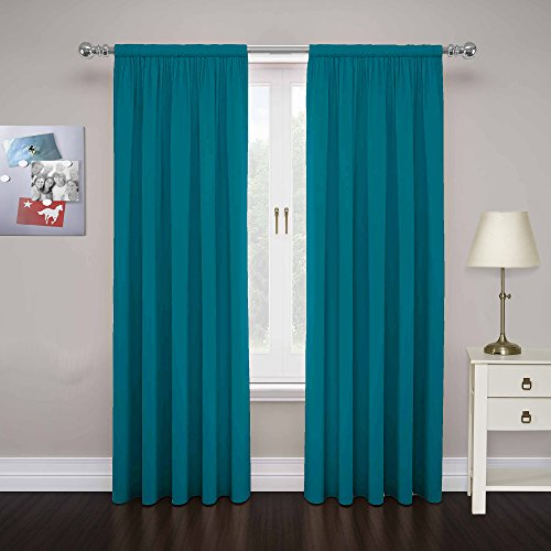 PAIRS TO GO 15110080X084TEL Cadenza 80-Inch by 84-Inch Microfiber Window Panel Pair, Teal -