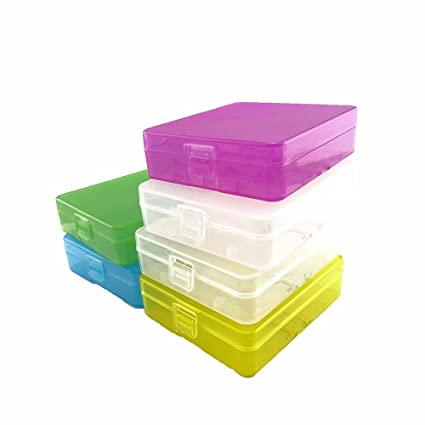 the best attitude 932df 01c8d Honbay Battery Storage Case/Box/Organizer/Holder for 4 18650 Batteries or 8  CR123A Battery, Pack of 6 (Multi-colored)