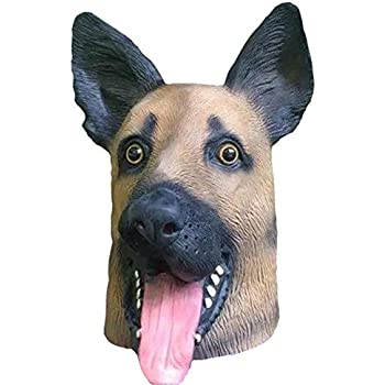 Mltao Animal German shepherd Dog Mask Costume Dog head mask cosplay for Halloween Costumes Ball  sc 1 st  Amazon.com & Amazon.com: Mltao Animal German shepherd Dog Mask Costume Dog head ...