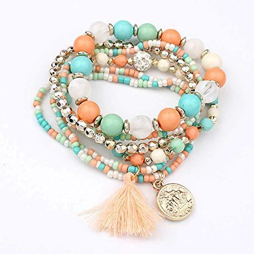 Dressin Multilayer Beads Bracelets Fashion Fringed Multilayer Pearl Bracelet Jewelry Best Gift for Women Girls by Dressin (Image #3)