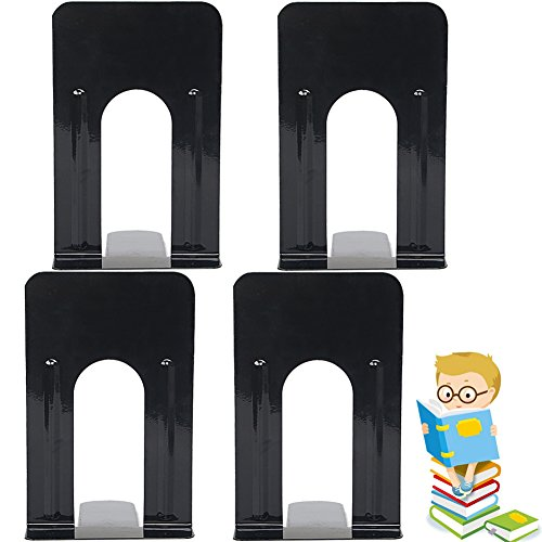 Economy Bookends Universal Black Heavy for Office,9 Inch, Pack of 2 Pairs by Sun Cling,Black by Sun Cling