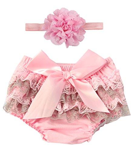 Beautiful Baby Lace Skirt - Luyun Baby Bloomers Tutu Skirt Infant Ruffle Toddler Shorts and Headband Set
