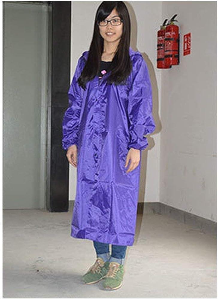 Moda da Donna Moda Impermeabile Giacca Tempo Lunga Festa Impermeabili Style Libero Poncho da Pioggia con Cappuccio Camping Leisure Violett