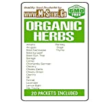 ORGANIC HERBS Seed COMBO KIT - from Alfalfa to Thyme Seeds - By MySeeds.Co (Organic Herbs Kit)