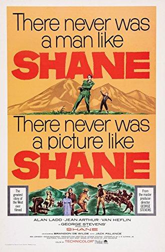 Posterazzi Shane Us Art Top from Left: Alan Ladd Brandon De Wilde 1953. Movie Masterprint Poster Print (24 x 36)