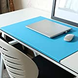 No Smell 23.6'x 13.8' with Full Lip Office Desk Pad Table Pad Blotter Protector Waterproof PU Surface Mouse Pad Desk Writing Mat