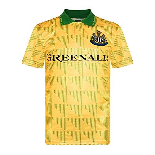 Newcastle United Away Shirt - Newcastle United FC Official Soccer Gift Mens 1990 Retro Away Kit Shirt Large