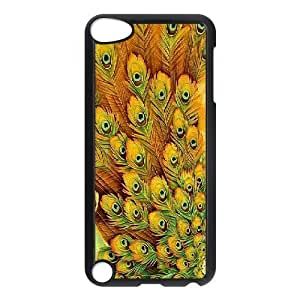 Jumphigh Feathers Ipod Touch 5 Cases Beautiful Peacock Feathers, Feathers [Black]