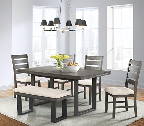 Picket House Furnishings Sullivan 6 Piece Dining Set in Dark Ash