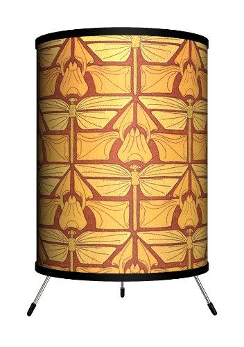 Lamp-In-A-Box TRI-DEC-DRGFL Décor Art - Dragonfly Nouveau Tripod Lamp, 8