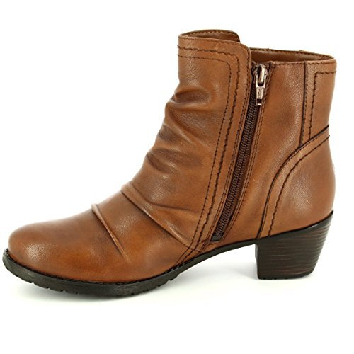 Lotus Maples Womens Casual Ankle Boots Tan ON29K
