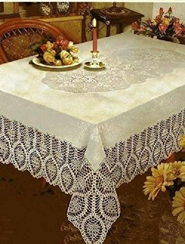 DINY American Embroidered Tablecloth Machine Washable Ideal For Formal Dinner Parties 60