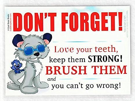 Amazon.com: cepillo para polvo tu dientes señal, 5 x 7 inch ...