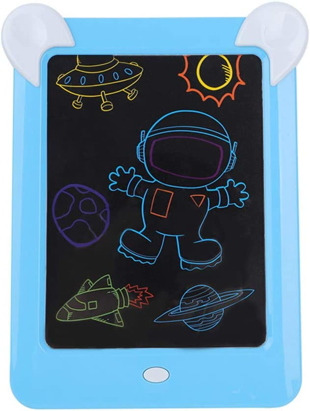 LCD Tablet Portable Cartoon Color Painting Graffiti Board Electronic Smart Painting Board LED Light Erasable Blackboard Children Creative Gift