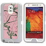 MOONCASE Galaxy Note 3 Case, [Realtree Camo Series] 3 Layers Heavy Duty Defender Hybrid Soft TPU +PC Bumper Triple Shockproof Drop Resistance Protective Case Cover for Samsung Galaxy Note 3 N9000 -Pink Tree