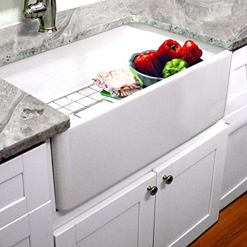 Highpoint Collection 30-inch Single Bowl Fireclay Ceramic Farmhouse Kitchen Sink ()