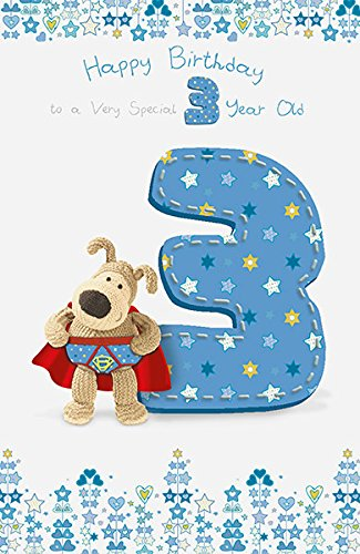 Boofle Boy 3rd Birthday Card Amazoncouk Office Products