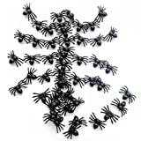Realistic Fake Spider Tricky Prank Bugs Verisimilar Plastic Toys Halloween Props Small Size Black Pack of 200