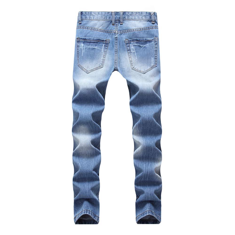 Amazon.com: LXLDH pantalones vaqueros desgarrados para ...