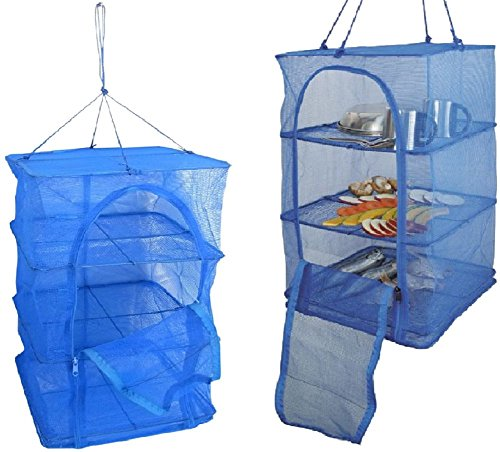 SPJ: Hanging Drying Net 3 Layers Hygienical Non Electric Solar Dehydrator Natural Way to Dry Food Vegetables Fruits and Other