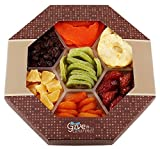 GIVE IT GOURMET, Assortment of Dried Fruits Gift Basket (7 Section) - Array of Delicious Dried Fruit for Snack Gifts | Large Healthy Gift Basket
